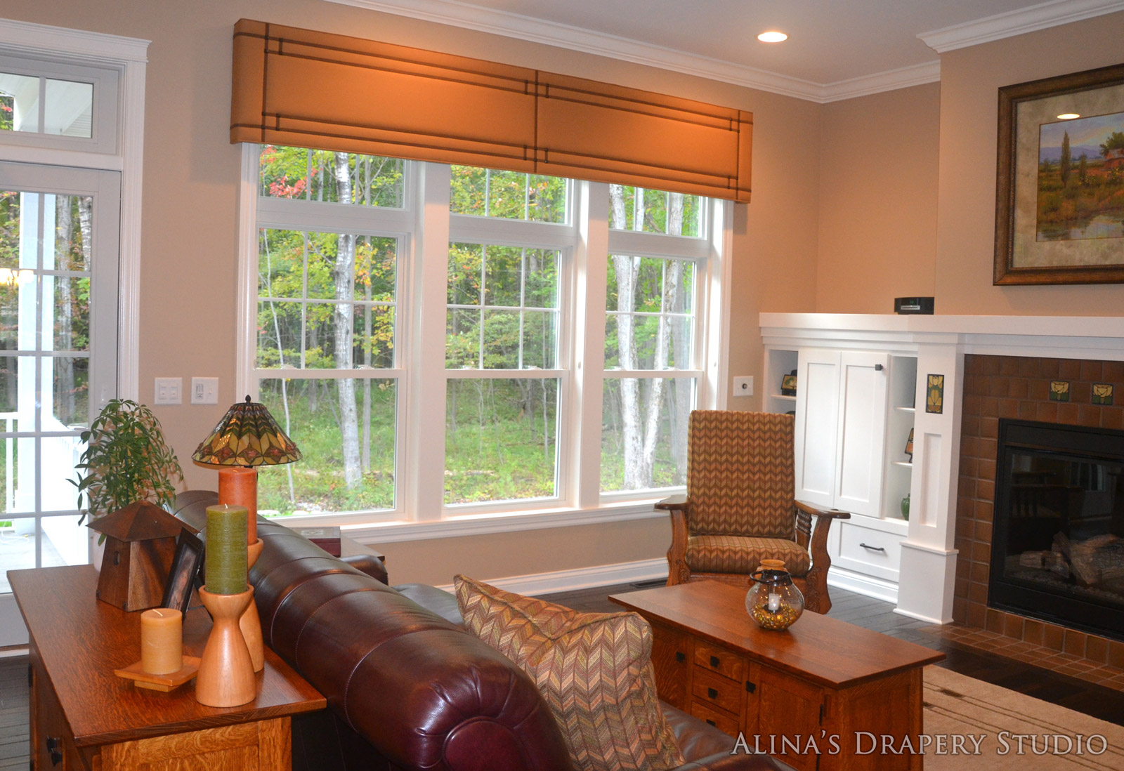 Custom window treatments and design by alina 39 s drapery studio for Custom design windows