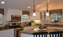 arched kitchen window treatments