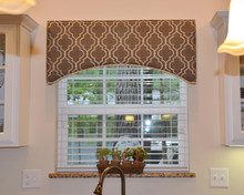 embroidered arched cornice
