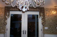 french door valance