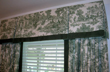 toile custom window treatments