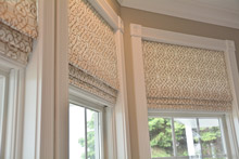faux roman shades custom