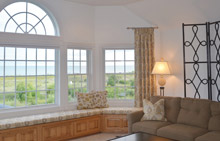 bay window draperies