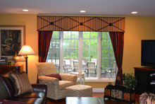 cornice curtains tiebacks